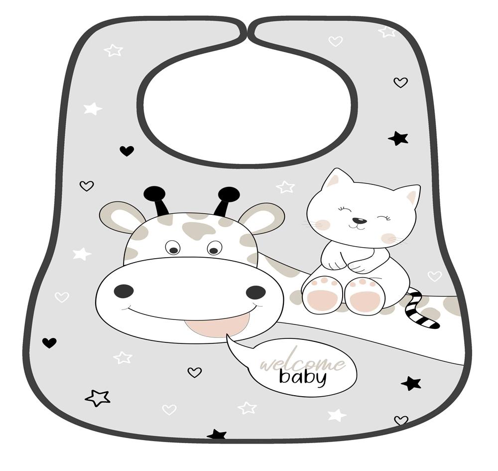 סינר לתינוק דגם ג'ירפה