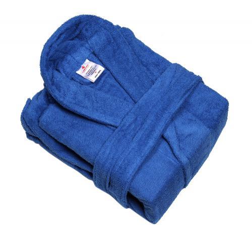 חלוק רחצה מבוגרים - כחול רויאל