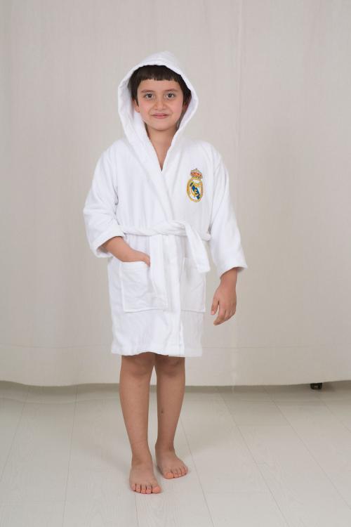 חלוק מגבת לילדים - מותג ריאל מדריד מידה 5-6