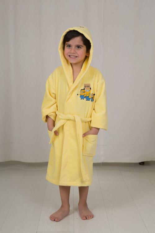 חלוק מגבת לילדים - מותג מניונים מידה 3-4