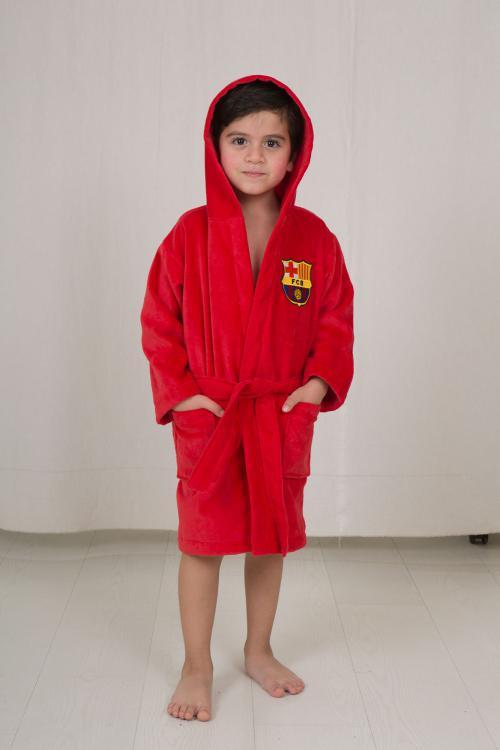 חלוק מגבת לילדים - מותג ברצלונה מידה 3-4